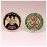 柔らかいエナメルのアメリカの軍隊の挑戦硬貨をカスタム設計しなさい