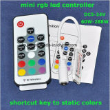 Mini RGB LED regulador de DC5-24V con el telecontrol del RF