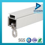Perfil de la aleación de aluminio 6063 T5 para el perfil del carril de la pista de la cortina modificado para requisitos particulares