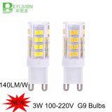 diodo emissor de luz 2835 SMD do bulbo 52PCS do diodo emissor de luz 3W mini G9
