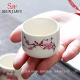 Triangle Grade Ceramic Mini Tea Cup / Bone China Shot Cup / Ceramicwine Cup com impressão.