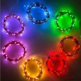 Purple 12V 50 LED String Lights 16.4FT Copper Wire Firefly Lights Télécommande USA Ca Plug
