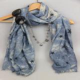 Новое печатание играет главные роли шарф полиэфира для шалей вспомогательного оборудования способа женщин