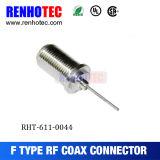 Hembra del alambre del prensado para el conector del cable coaxial F