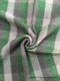 Ткань Stock ткани шерстей проверки зеленая & черная шерстяная