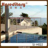 屋外のバルコニーの塀(SJ-H1646)のための側面の台紙のステンレス鋼の手すり