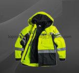 Workwear куртки безопасности водоустойчивых людей отражательного полиэфира высокого качества
