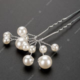 Clips en cristal Wedding de chevilles de cheveu de fleur nuptiale de perle