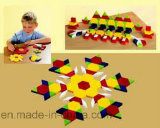 Pädagogisches Plastikspielzeug/Plastikmuster-Blöcke/Spielwaren