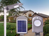 Venta caliente para la luz solar del jardín de 5W LED con la cubierta plástica del ABS