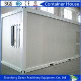 Casa modular del envase de la oficina del edificio de la venta caliente hecha del bastidor de acero y de los paneles de emparedado