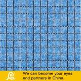 Mosaico de cerámica de la sombra del agua para la piscina en negro azul amarillento
