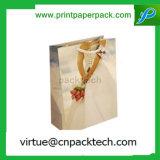 Progettare il sacchetto per il cliente al minuto di lusso riciclabile della carta kraft di Prmotional