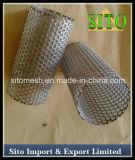 Cilindro perfurado do filtro de engranzamento do fio do aço inoxidável
