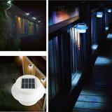 Lámpara solar de la iluminación de la cerca de la luz de la pared de 3 LED