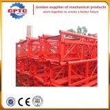 Section de construction de mât d'élévateur, pièces d'élévateur de construction