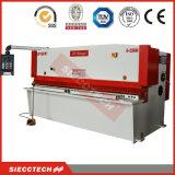 Máquina hidráulica pequena da placa do pêndulo de QC12y 8X4000, máquina de corte do CNC do bom preço