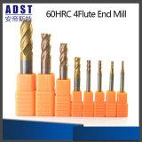Herramienta de corte del molino de extremo del acero de tungsteno del CNC 60HRC 4flute de Edvt