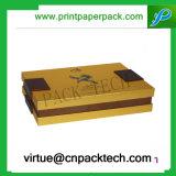 Contenitore di carta impaccante di regalo dei monili del vino del cartone di lusso su ordinazione con l'inserto di seta
