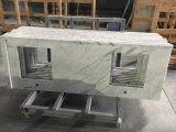 Тщеты ванной комнаты Bianco Carrara Countertops мраморный верхние белые мраморный