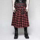 Q-325 de punker ijlt de Schotse Mannelijke Rok van de Klinknagel Pu van het Zware Metaal van de Stijl