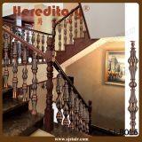 家(SJ-B013)のための赤く旧式な真鍮の鋳造アルミの手すり