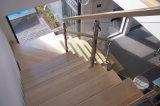 Inox 옥외 단계를 위한 유리제 층계 난간 스테인리스 손잡이지주