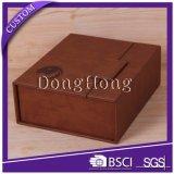 Персонализированная коробка проштемпелеванная логосом изготовленный на заказ кожаный для упаковывать подарка