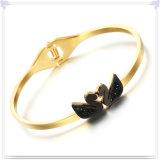 Pulseira de cristal do aço inoxidável da jóia da jóia da forma (BR1061)