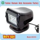 도로 모는 빛 둥근 LED 일 가벼운 작동되는 램프 떨어져 50W 무선 통제 LED