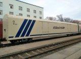 De Houten Wagen van de spoorweg met Blokken