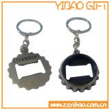 Apri di bottiglia su ordinazione di marchio con l'anello portachiavi del metallo (YB-LY-O-01)