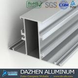 Profil d'aluminium du tissu pour rideaux 6063 de guichet en aluminium au Ghana Afrique