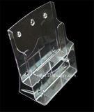 Duidelijke Plastic A4 2 Fabrikant btr-H6302-3 van de Houder van de Brochure van Banden