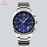 Schweizer Bewegungs-Sport-Mann-Armbanduhr-MultifunktionsEdelstahl-analoge Uhr 72795