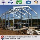 Edificio ligero/almacén/taller de la estructura de acero/vertido