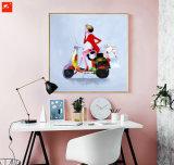 抽象的な方法女性のハンドメイドの油絵