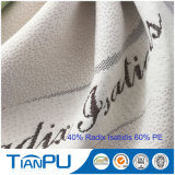 tela impermeável durável do protetor do colchão do jacquard poli luxuoso do Knit 280GSM