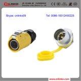UL Aprobado impermeable IP68 Conector de alimentación / conector 2pin