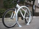 도시 지상에 의하여 거치되는 원형 자전거 선반