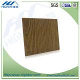 Placa de madeira da decoração do cimento da fibra da textura da grão