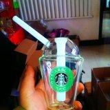 거북 석유 굴착 장치 소형 유리제 Hookah 유리제 수관 Starbuck 컵 유리제 연기가 나는 수관의 1개 쌍을%s 가진 꿀 컵
