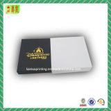 Rectángulo de papel de lujo de Cradboard con el sellado de oro para el regalo