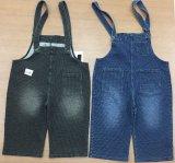 Tessuto di lavoro a maglia dei jeans del cotone della banda nera dello Spandex