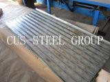 Folha galvanizada mergulhada quente do ferro/telhadura ondulada galvanizada do metal