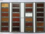 ルーバー付きのガラスドア(GSP9-013)が付いている白いペンキの寝室のワードローブ