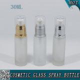 frasco do soro da fundação da bomba da loção de vidro geado do frasco 30ml