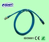 Kat 6 van de hoge snelheid 10gbps het Koord van het Flard van de Kabel voor de Aanleg van kabelnetten van het Netwerk