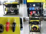 Gerador de soldador a diesel portátil de refrigeração a ar 5kw