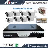 8 Kanal Ahd 1080P 2 Megapixel HD DVR Installationssatz